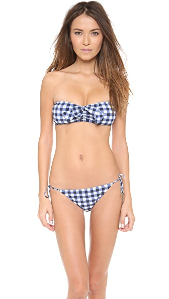 Juicy Couture Gingham Style Bandeau Bikini Top
