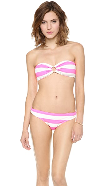 Juicy Couture Sixties Stripe Bandeau Bikini Top