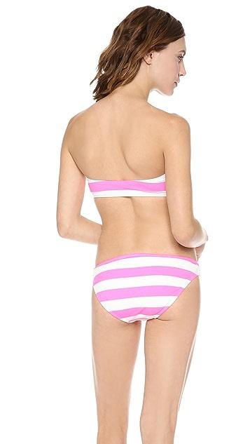 Juicy Couture Sixties Stripe Bandeau Bikini Top