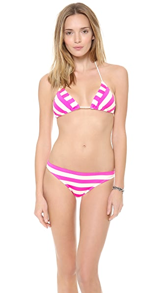 Juicy Couture Boho Stripe Triangle Bikini Top