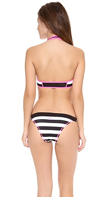 Juicy Couture Juicy Sport Promenade Stripe Swim Top