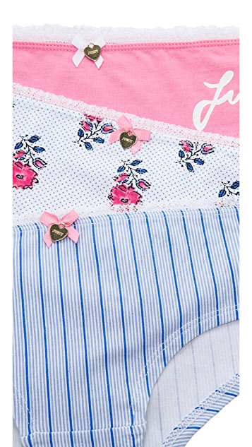 Juicy Couture Woodblock Floral Panty Pack