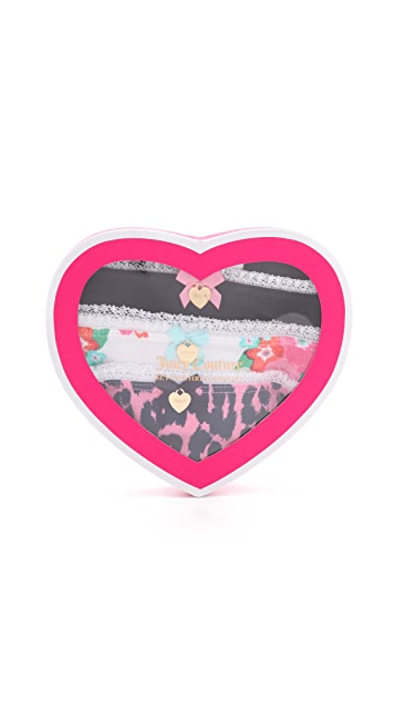 Juicy Couture Confetti Floral Panty Pack