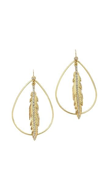 Juicy Couture Feather Hoop Earrings