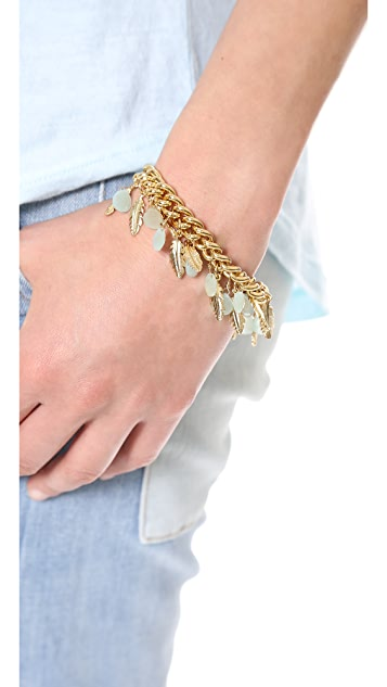 Juicy Couture Feather & Stone Charm Bracelet