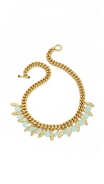 Juicy Couture Feather & Stone Necklace