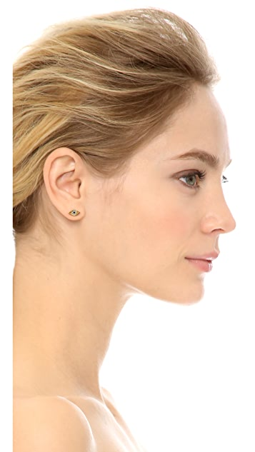 Juicy Couture Evil Eye Stud Earrings