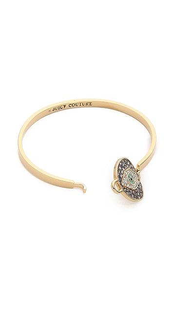 Juicy Couture Pave Evil Eye Bangle Bracelet