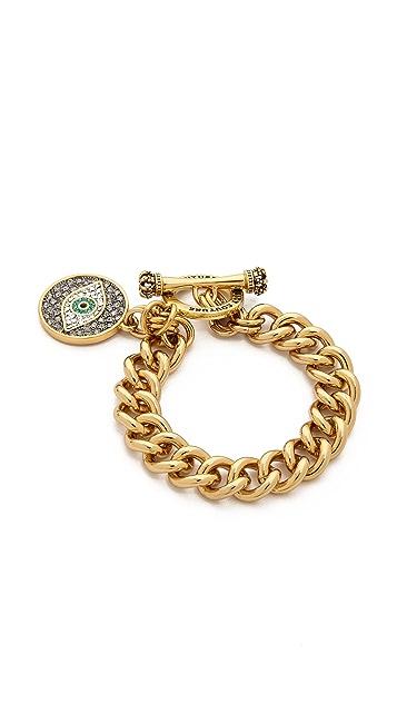 Juicy Couture Pave Evil Eye Charm Bracelet
