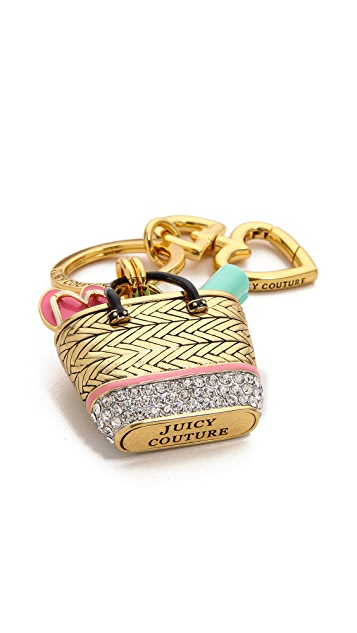 Juicy Couture Beach Bag Keychain