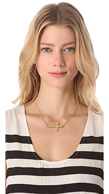 Jules Smith Uptown Girl Cross Necklace