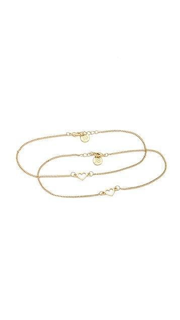 Jules Smith BFF Ankle Bracelet Set