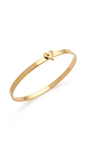 Jules Smith Heart Bangle Bracelet