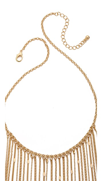 Jules Smith Long Chain & Fringe Necklace