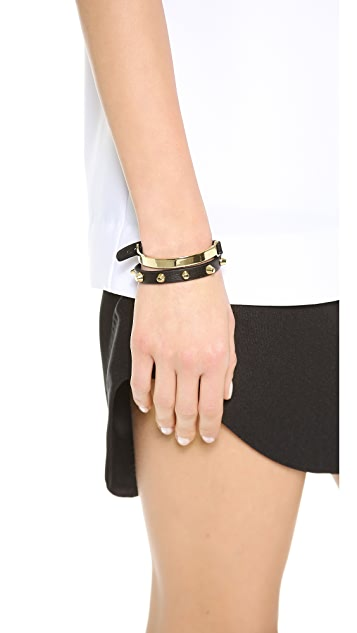 Jules Smith Stud & Bar Leather Wrap Bracelet