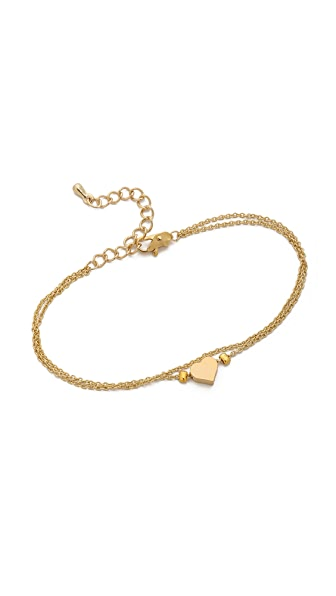 Jules Smith Double Chain Heart Charm Bracelet