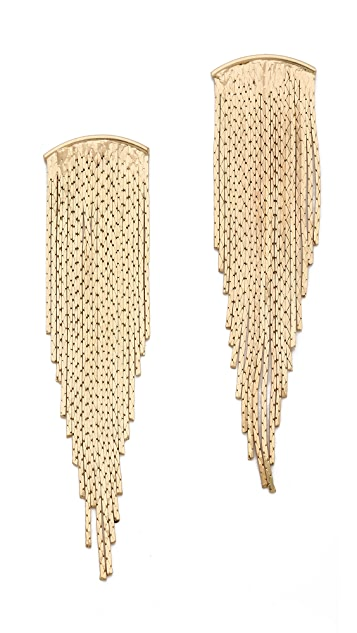Jules Smith Bar Fringe Earrings