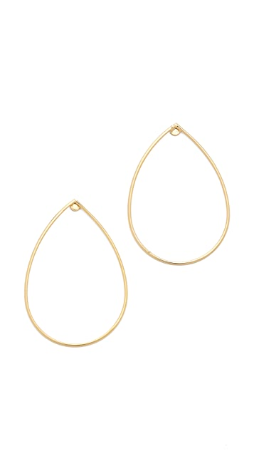 Jules Smith Teardrop Hoop Earrings