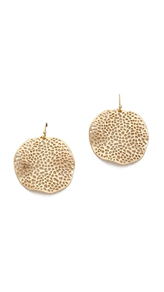 Jules Smith Small Hammered Plate Earrings