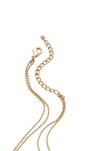 Jules Smith Double Bullet Charm Necklace