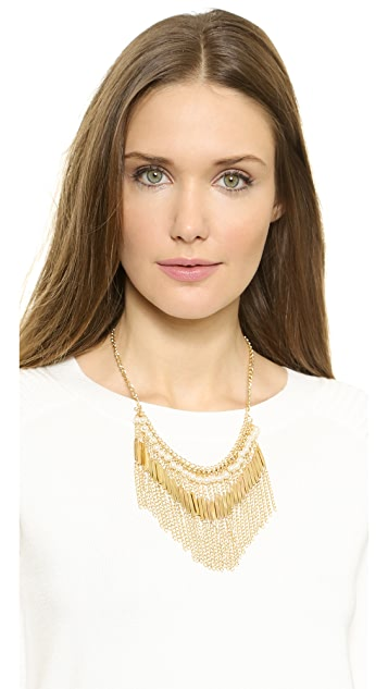 Jules Smith Imitation Pearl & Chain Fringe Necklace
