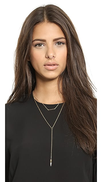 Jules Smith Double Layer Lariat Charm Necklace