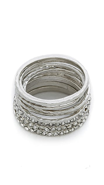 Jules Smith Pave Wave Ring Set
