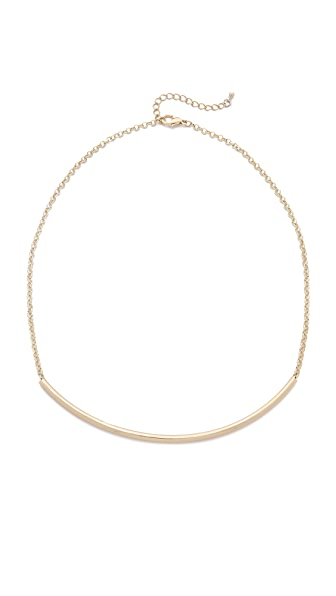 Jules Smith Thin Hollow Tube Necklace - Gold