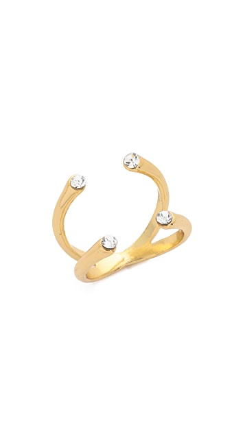 Jules Smith Crystal Claw Ring