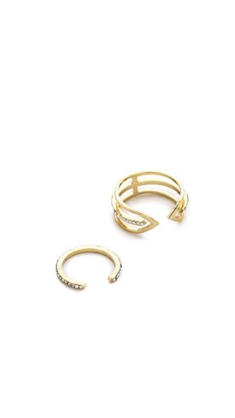Jules Smith Double Pace & Arrow Ring Set
