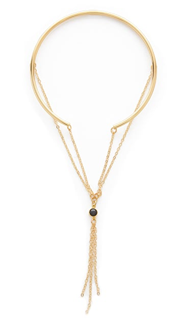 Jules Smith Chain Stone Tassel Arm Band