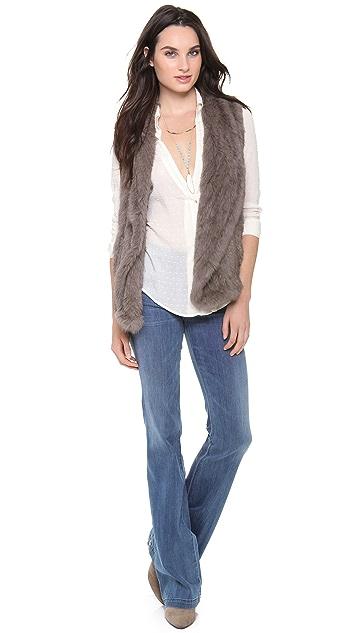 June Knit Fur Vest