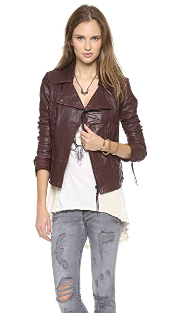 June Classic Leather Jacket