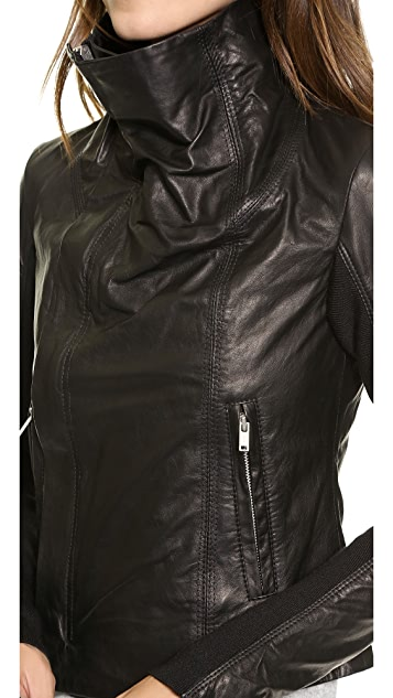 June Glove Leather Asymmetrical Jacket