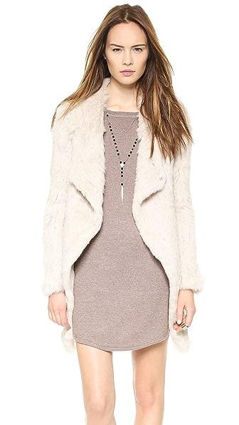 June Knit Fur Coat