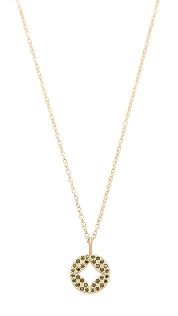 Jamie Wolf Black Diamond Pendant Necklace