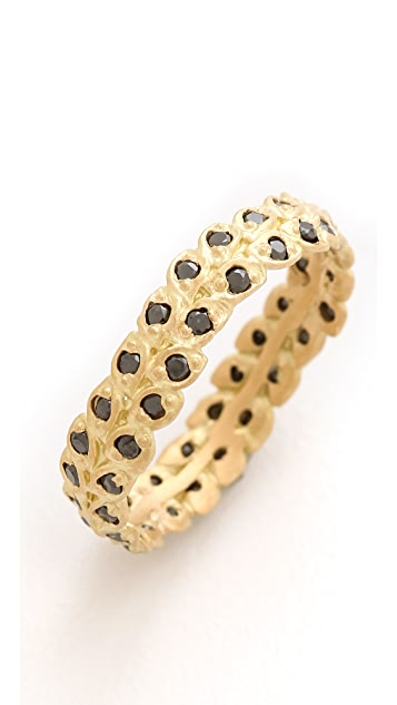 Jamie Wolf Black Diamond Filigree Ring