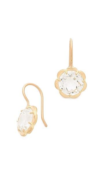 Jamie Wolf White Topaz Flower Earrings