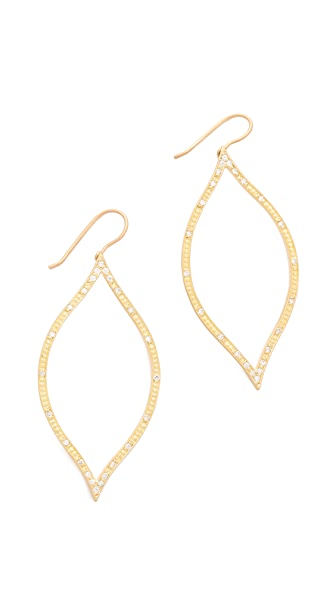 Jamie Wolf Open Leaf Diamond Earrings
