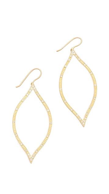 Jamie Wolf Open Leaf Diamond Earrings