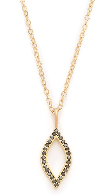 Jamie Wolf Black Diamond Marquis Necklace