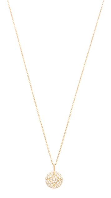 Jamie Wolf Small Pave Aladdin Disc Necklace