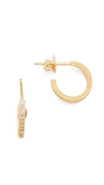 Jamie Wolf Diamond Pave Mini Hoop Earrings