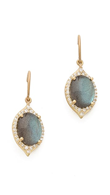 Jamie Wolf Labradorite Aladdin Pave Earrings