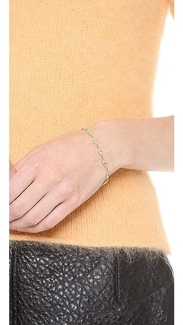 Jamie Wolf Linked Leaf Bracelet