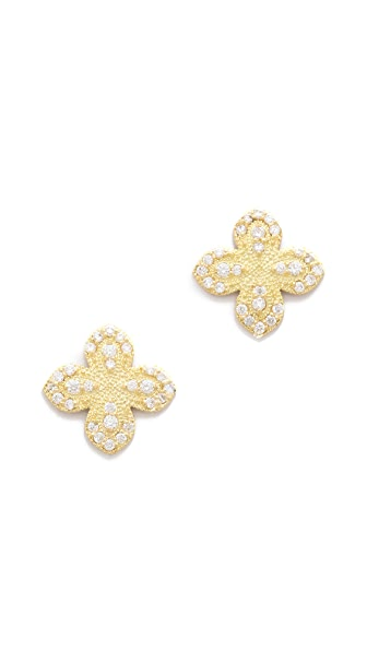 Jamie Wolf Flower Pave Diamond Earrings