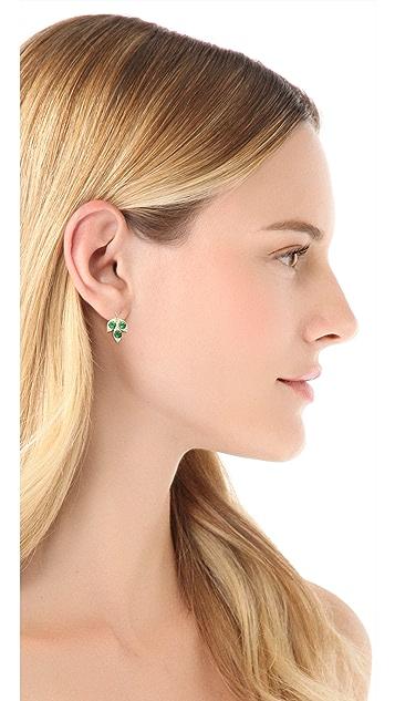 Jamie Wolf Small Three Leaf Earrings