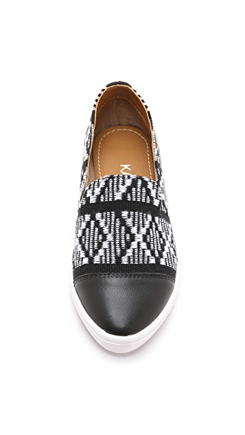 KAANAS Senegal Pointy Toe Slip On Sneakers