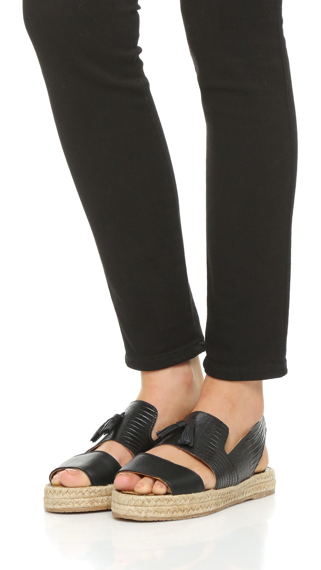 Kaanas Black Kaanas Malta Flatforms Sandals