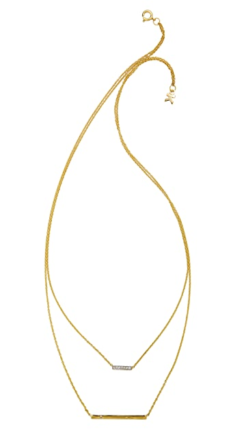 Kacey K Double Bar Necklace